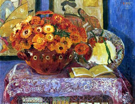 Heinrich Vogeler - Stilleben mit Ringelblumen