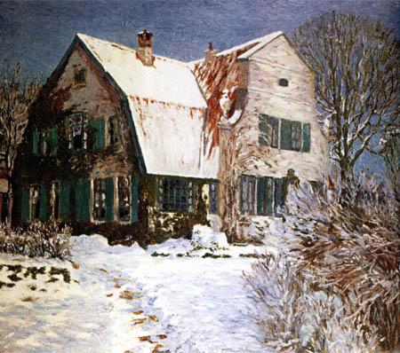 Heinrich Vogeler - Barkenhoff en la nieve