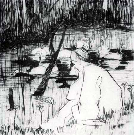 Heinrich Vogeler - The Seven Swans