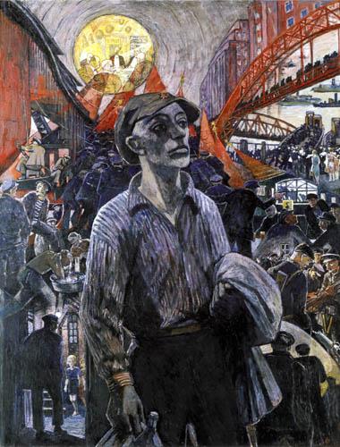 Heinrich Vogeler - A Hamburg shipyard worker