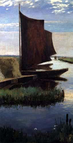 Heinrich Vogeler - Por el Hamme