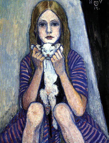 Heinrich Vogeler - Kind mit Katze