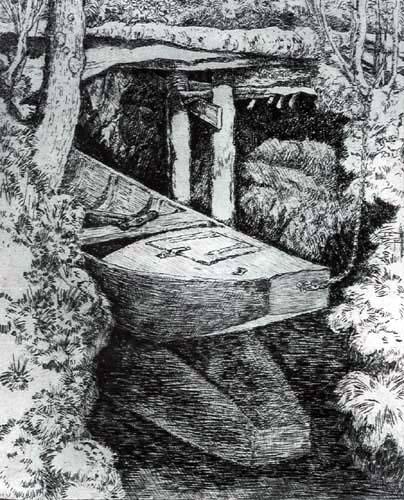 Heinrich Vogeler - A Boat on the River