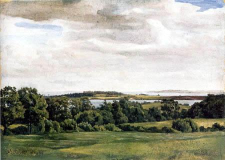 Adolph (Adolf) Vollmer - Landscape in Holstein