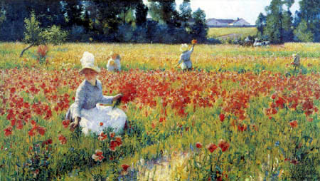 Robert Vonnoh - Poppies