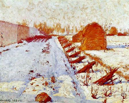 Robert Vonnoh - Sonne und Schatten im Winter
