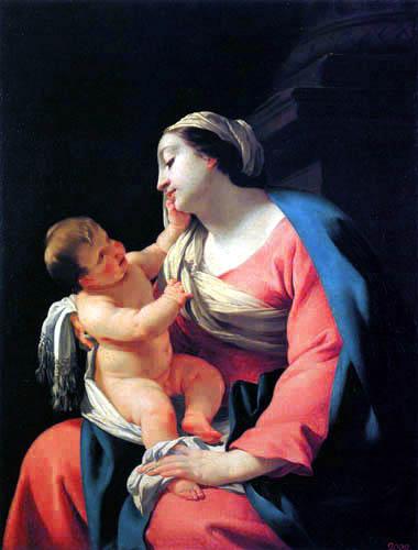 Simon Vouet - Madonna with child