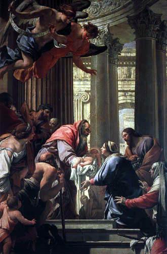 Simon Vouet - Ofrenda en el templo