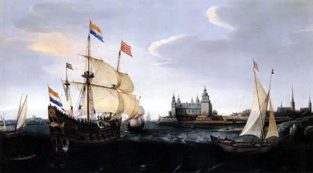 Hendrik Cornelisz Vroom - Holländische Schiffe im Sund