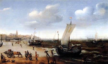 Hendrik Cornelisz Vroom - The Beach near Scheveningen