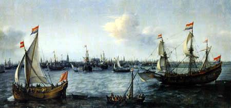 Hendrik Cornelisz Vroom - Schiffe vor Amsterdam