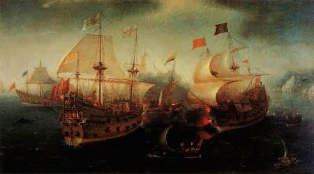 Hendrik Cornelisz Vroom - Seeschlacht