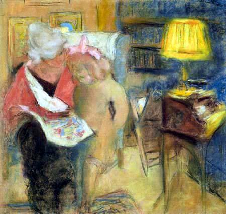 Edouard Vuillard - Lucy Hesselt and Lulu, Rue de Naples