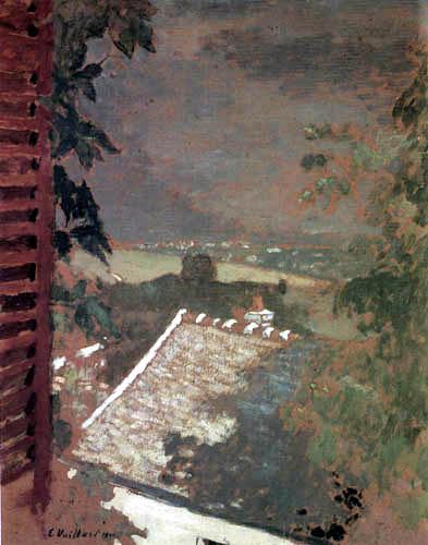 Edouard Vuillard - View out the window on the Lake Geneva