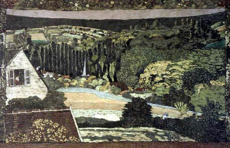 Edouard Vuillard - View out the window at the forest