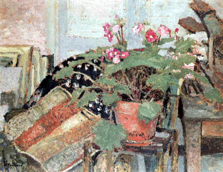 Edouard Vuillard - Flower Pot in the Studio in the Rue Truffaut