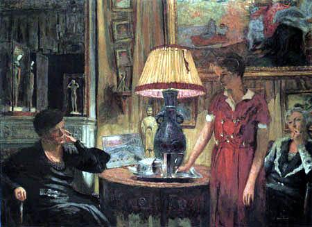 Edouard Vuillard - The Visit, Rue de Naples