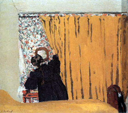 Edouard Vuillard - The yellow curtain