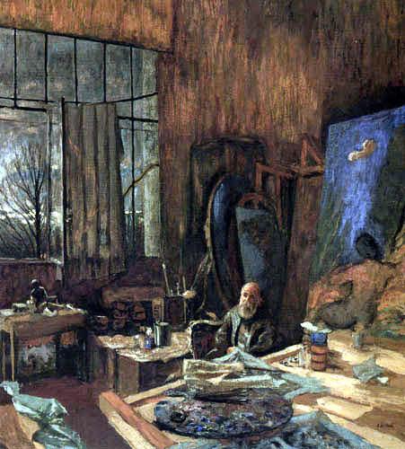 Edouard Vuillard - The painter K. X. Roussel in his studio