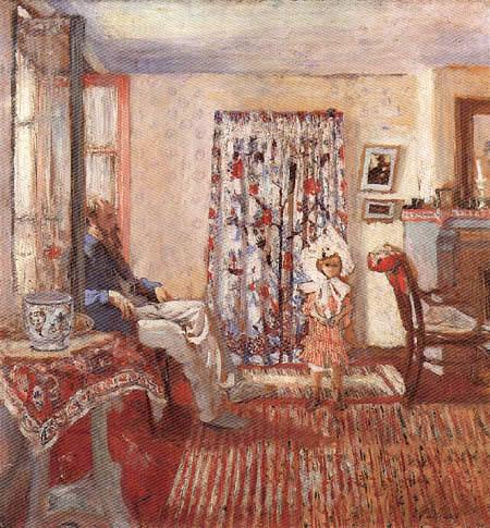 Edouard Vuillard - The painter Ker Xavier Roussel and his daughter