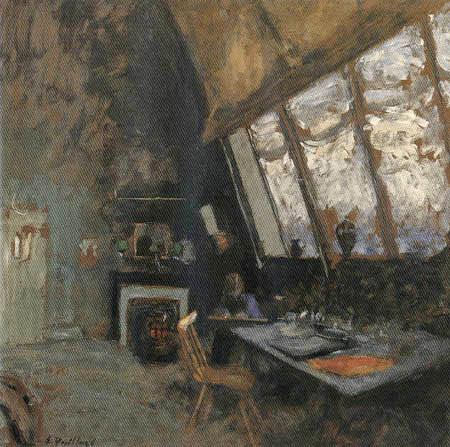 Edouard Vuillard - Felix Vallotton in his studio