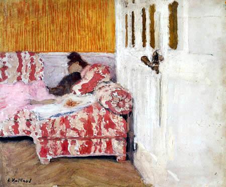 Edouard Vuillard - Femme sur canapé