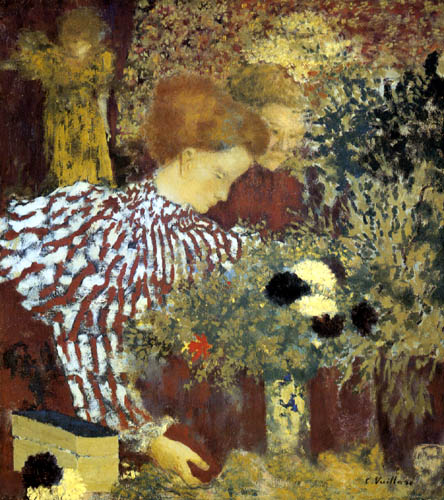 Edouard Vuillard - Woman in striped dress