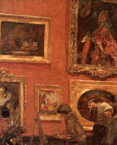 Edouard Vuillard - Painting in the Louvre, Salle La Caze