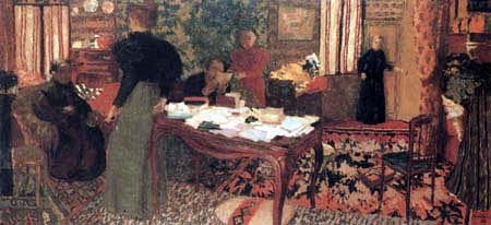 Edouard Vuillard - Large interior with six people