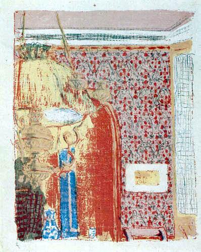 Edouard Vuillard - Interieur mit rosa Tapete II