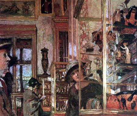 Edouard Vuillard - Display cases in the Louvre, Salle Clarac