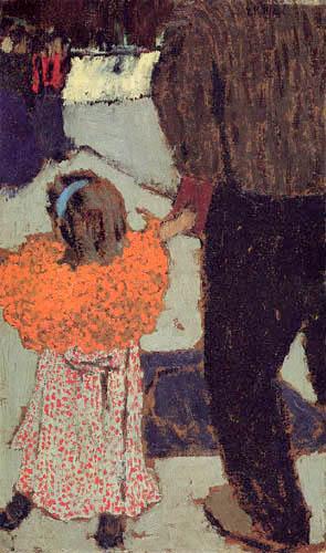 Edouard Vuillard - Girl with red shawl