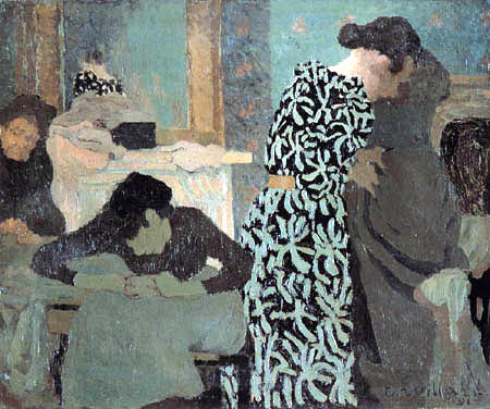 Edouard Vuillard - Woman in a dress with a flower pattern