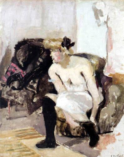 Edouard Vuillard - Woman with black stockings