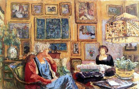 Edouard Vuillard - The living room of Madame Hessel