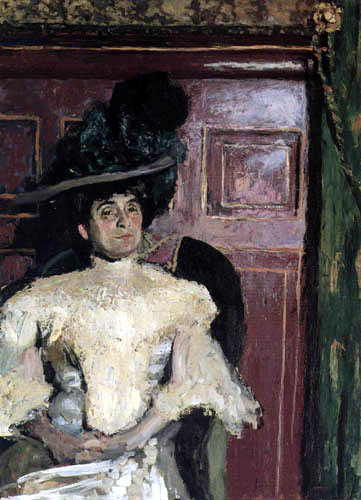 Edouard Vuillard - Lucy Hessel in a green hat, Amfreville