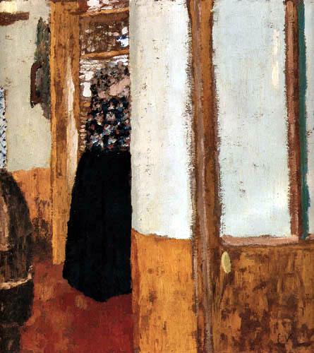 Edouard Vuillard - Woman on the linen cupboard