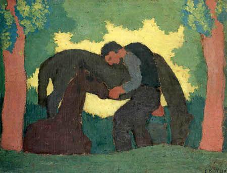 Edouard Vuillard - Man with two horses