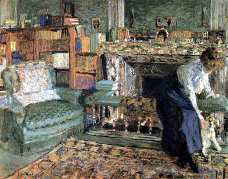 Edouard Vuillard - Marguerite Chapin with her fox terrier