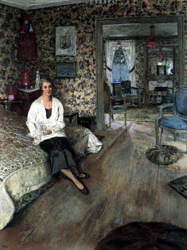 Edouard Vuillard - Marie-Blanche - The Comtesse Jean de Polignac in her bedroom