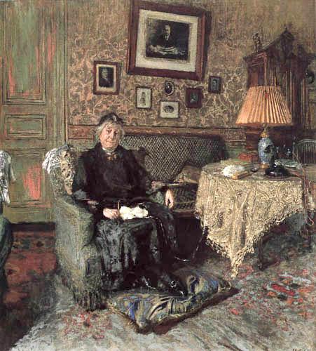 Edouard Vuillard - Madame Adrien Bénard in her salon