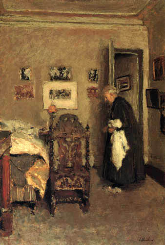 Edouard Vuillard - Madame Vuillard in the bedroom of the artist, Rue de Calais