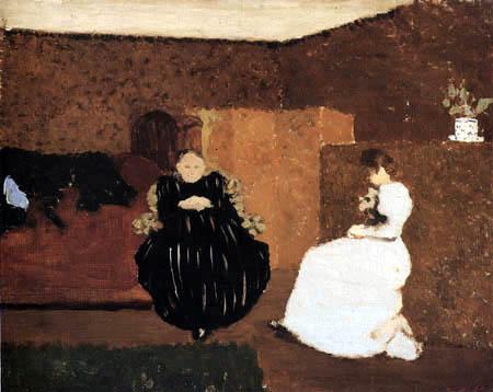 Edouard Vuillard - Madame Vuillard and her daughter - La Causette