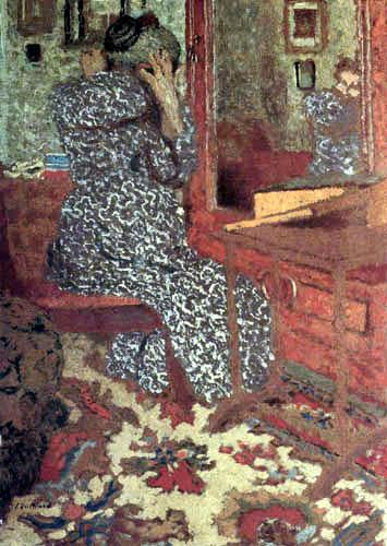 Edouard Vuillard - Madame Vuillard before the mirror