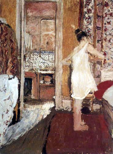 Edouard Vuillard - Female model undress