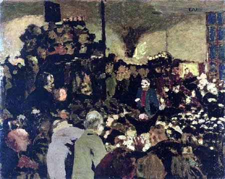 Edouard Vuillard - The election meeting
