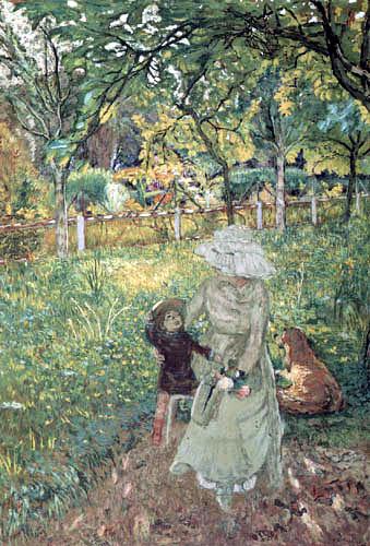 Edouard Vuillard - Lucy Hessel and Denise Naterson, Les Pavillons, Villerville