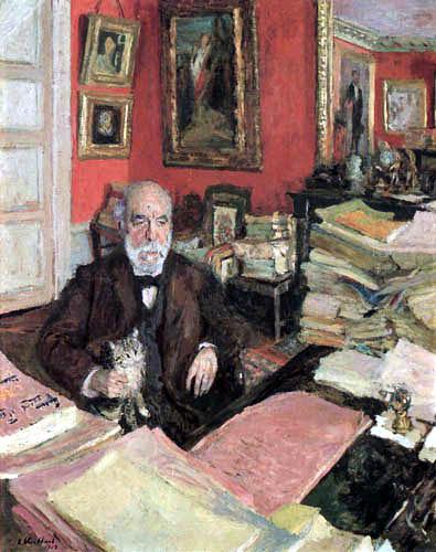 Edouard Vuillard - Théodore Duret in his study