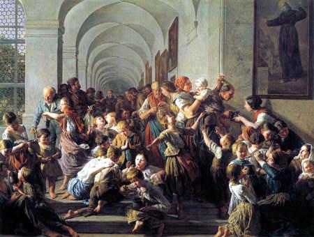 Ferdinand Georg Waldmüller - Die Klostersuppe