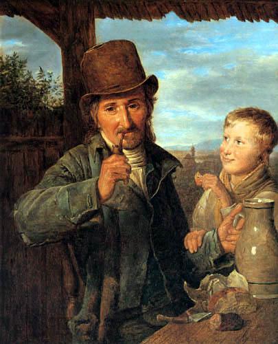 Ferdinand Georg Waldmüller - Der Tagelöhner mit seinem Sohn